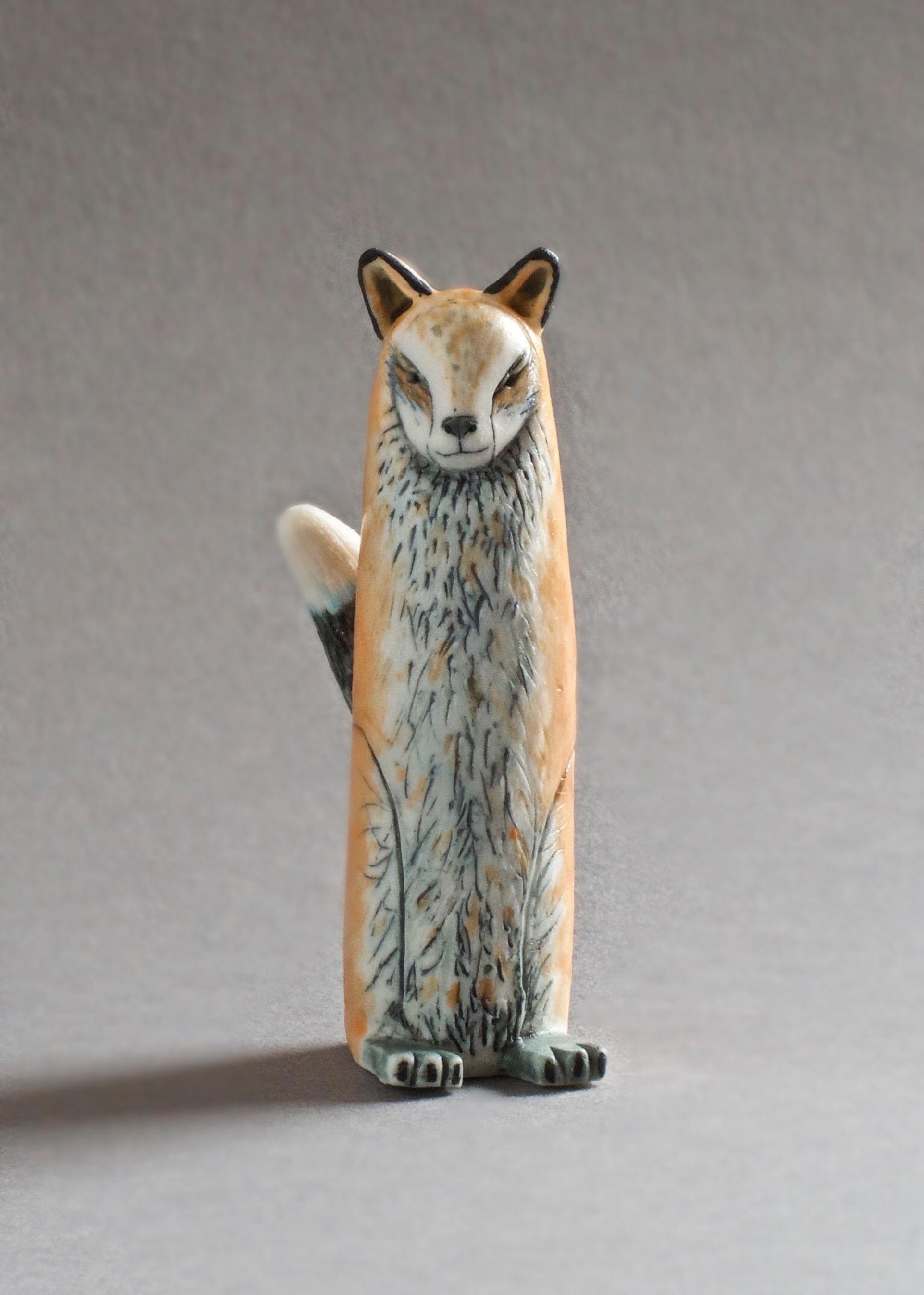Red Fox Spirit  porcelain