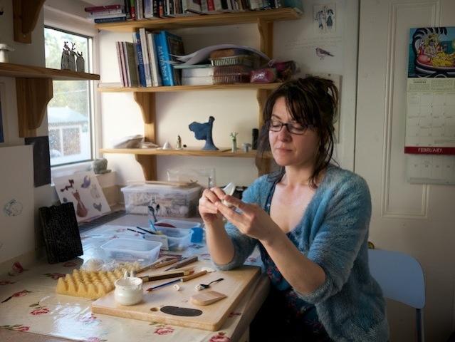 Marina at work in her studio