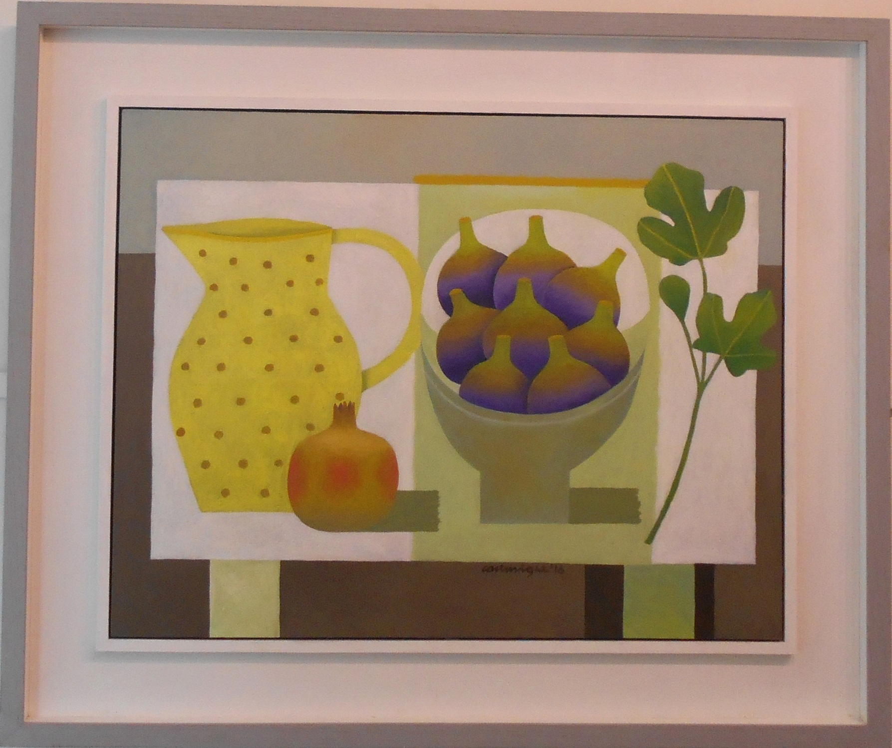 Still Life with Spotted Jug and Figs  oil on board  58.5 x 45.5 cm  SOLD