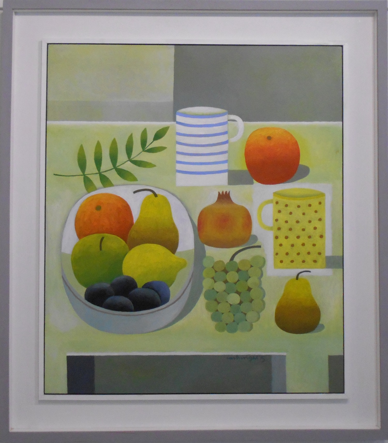 Still Life on a White Table  oil on board  61 x 71 cm  SOLD