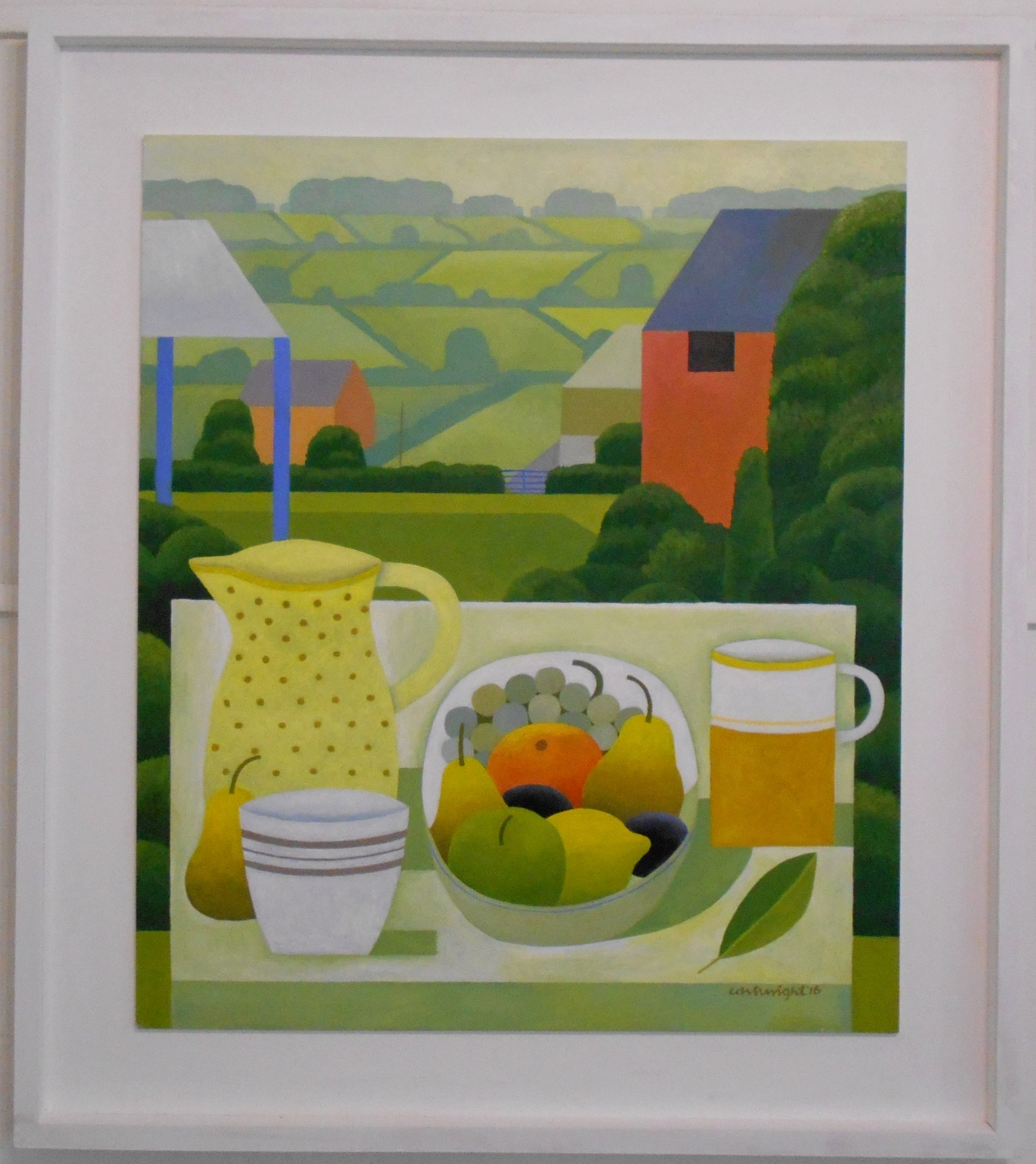 Still Life with Landscape No. 5  oil on board  61 x 71 cm  SOLD