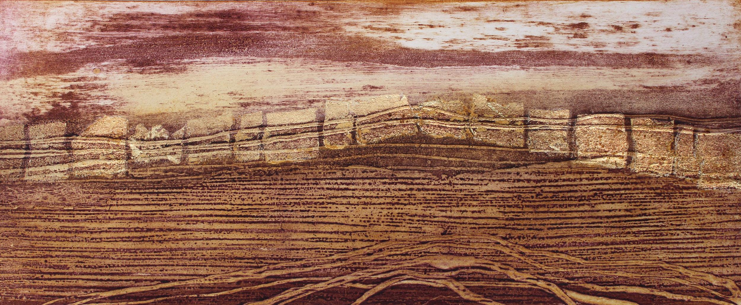 Sundown   collagraph    22 x 52 cm    £220