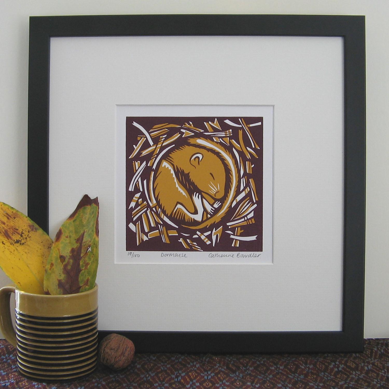 Dormouse    screenprint    13 x 13 cm   £20 (unframed)