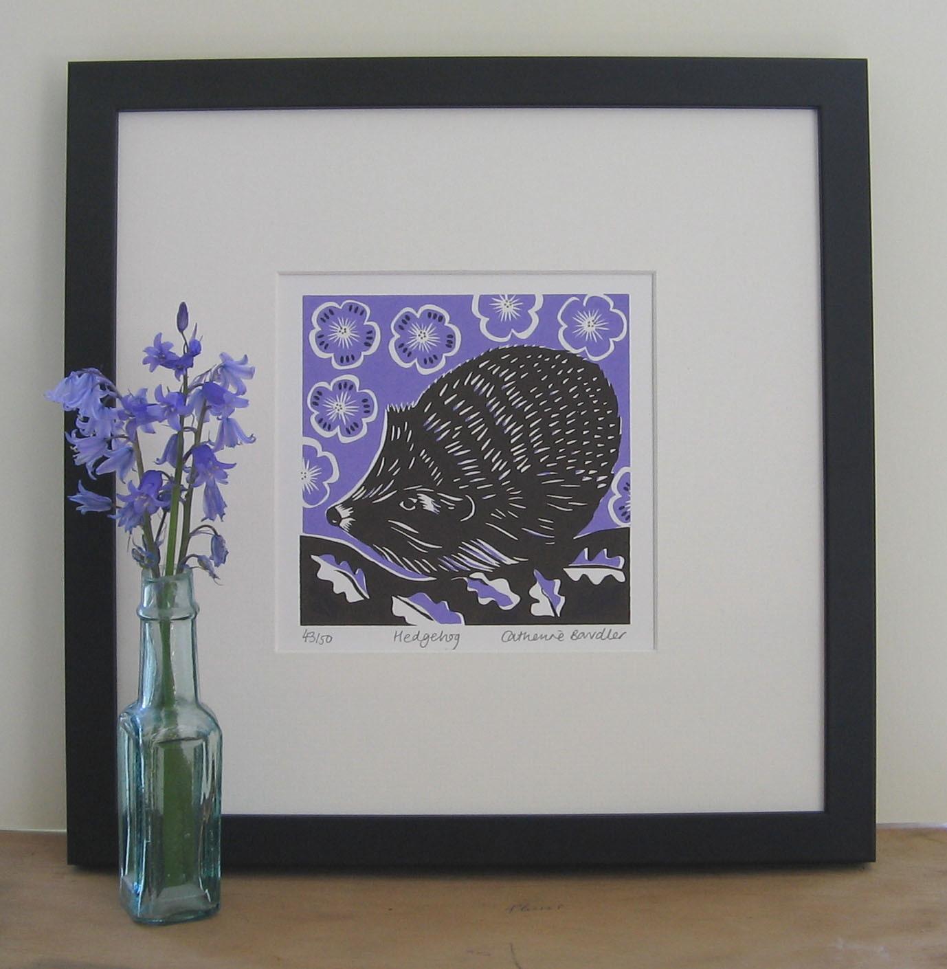 Hedgehog   screenprint   13 x 13 cm  £20 (unframed)