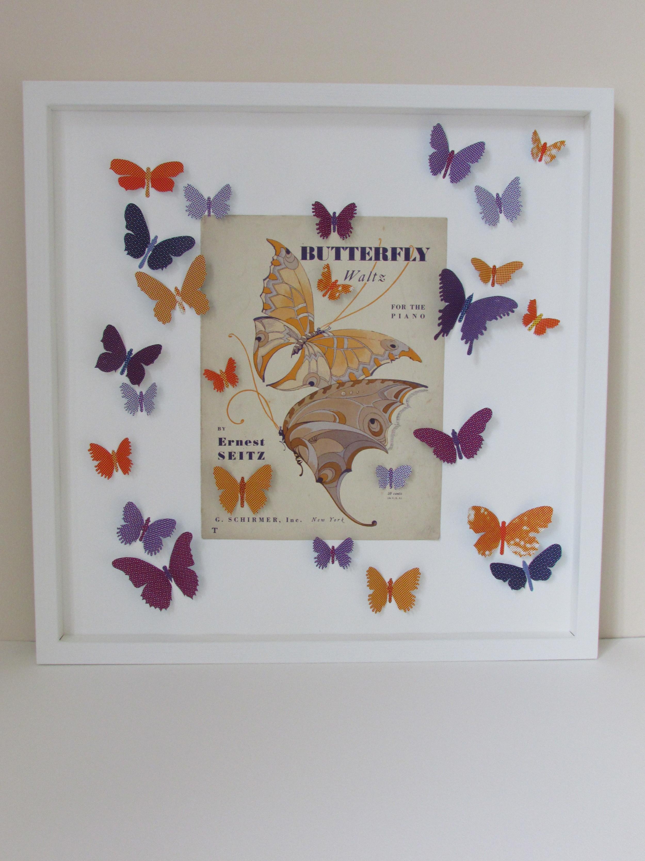 Butterfly Waltz  mixed media  53 x 53 cm