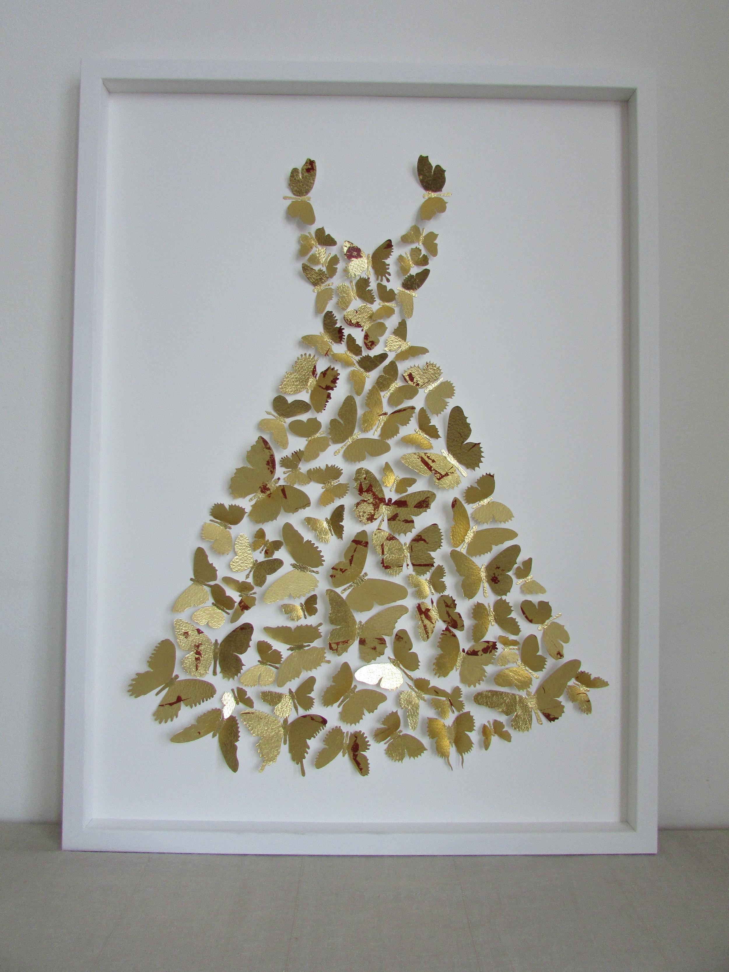 Little Gold Dress  mixed media