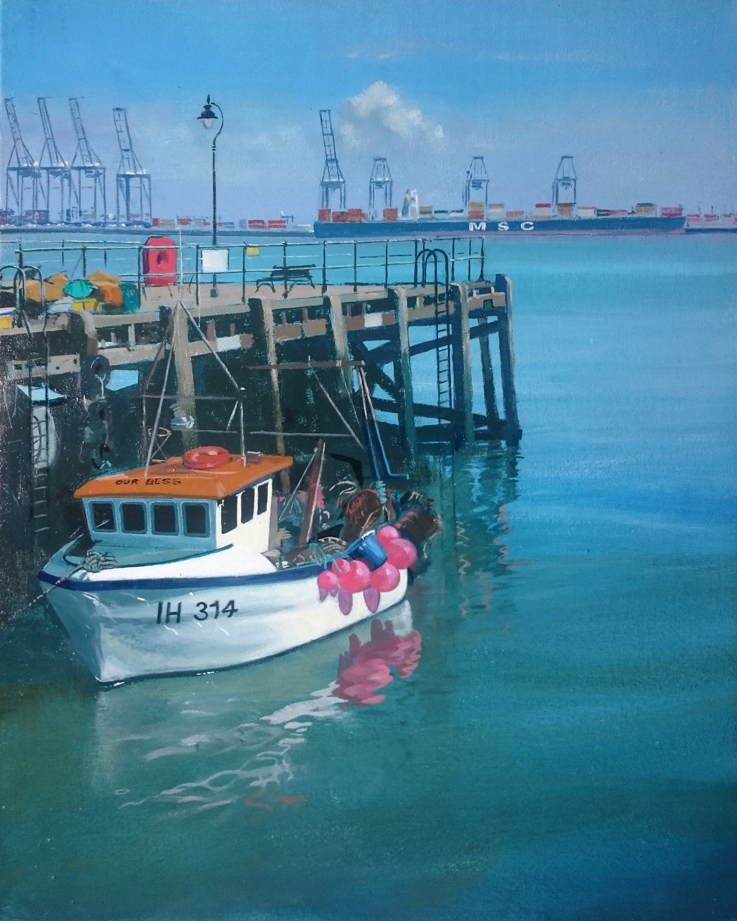 Harwich 11  50 x 40 cm  oil on canvas  £650