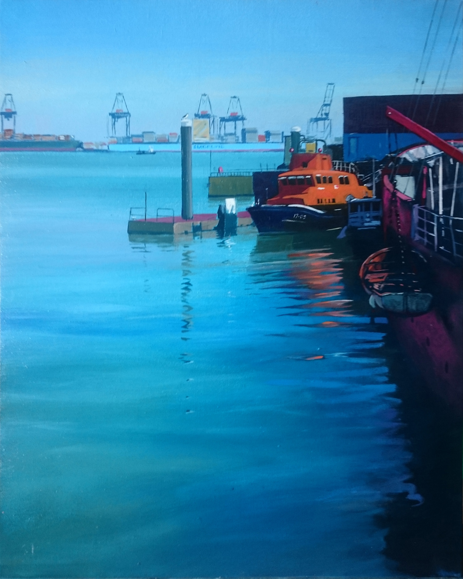 Harwich 12  50 x 40 cm  oil on canvas  £650