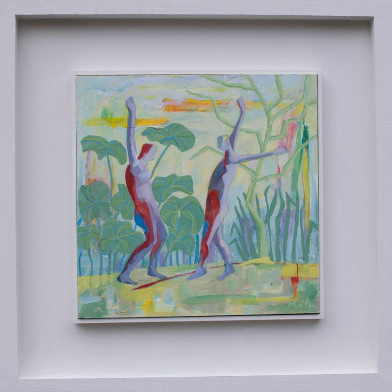 Lets Dance  acrylic on board  49 x 49 cm framed  £495