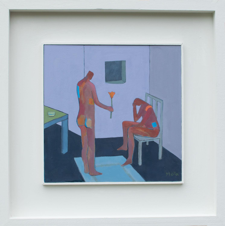 Peace  acrylic on board  49 x 49 cm framed  £495