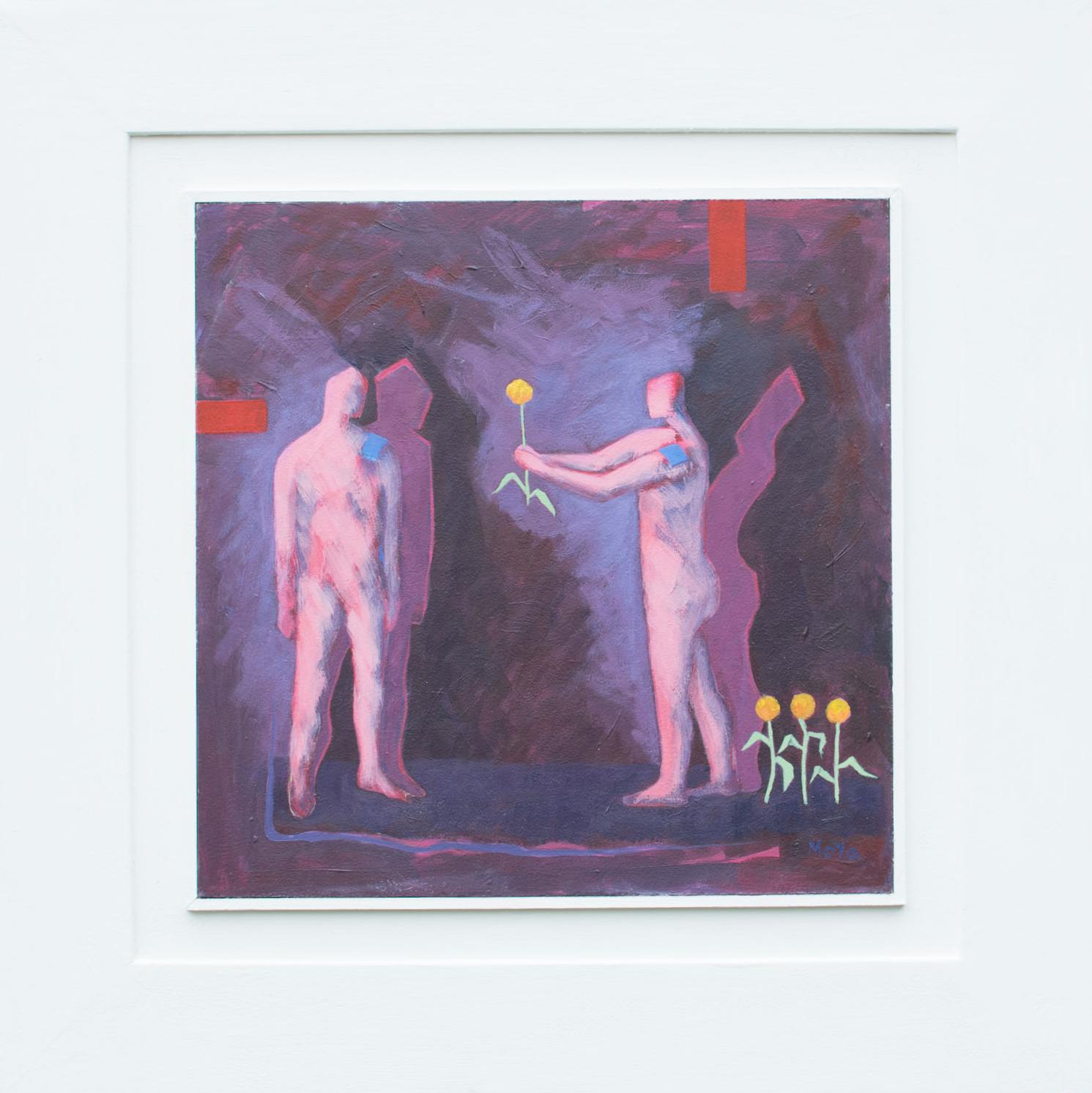 Spotlight  acrylic on board  58 x 58 cm framed  £495