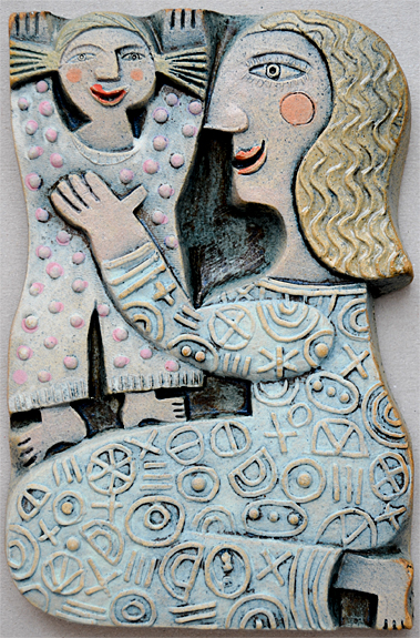 Mother and Daughter  ceramic  10 x 15cm  £75 last one!