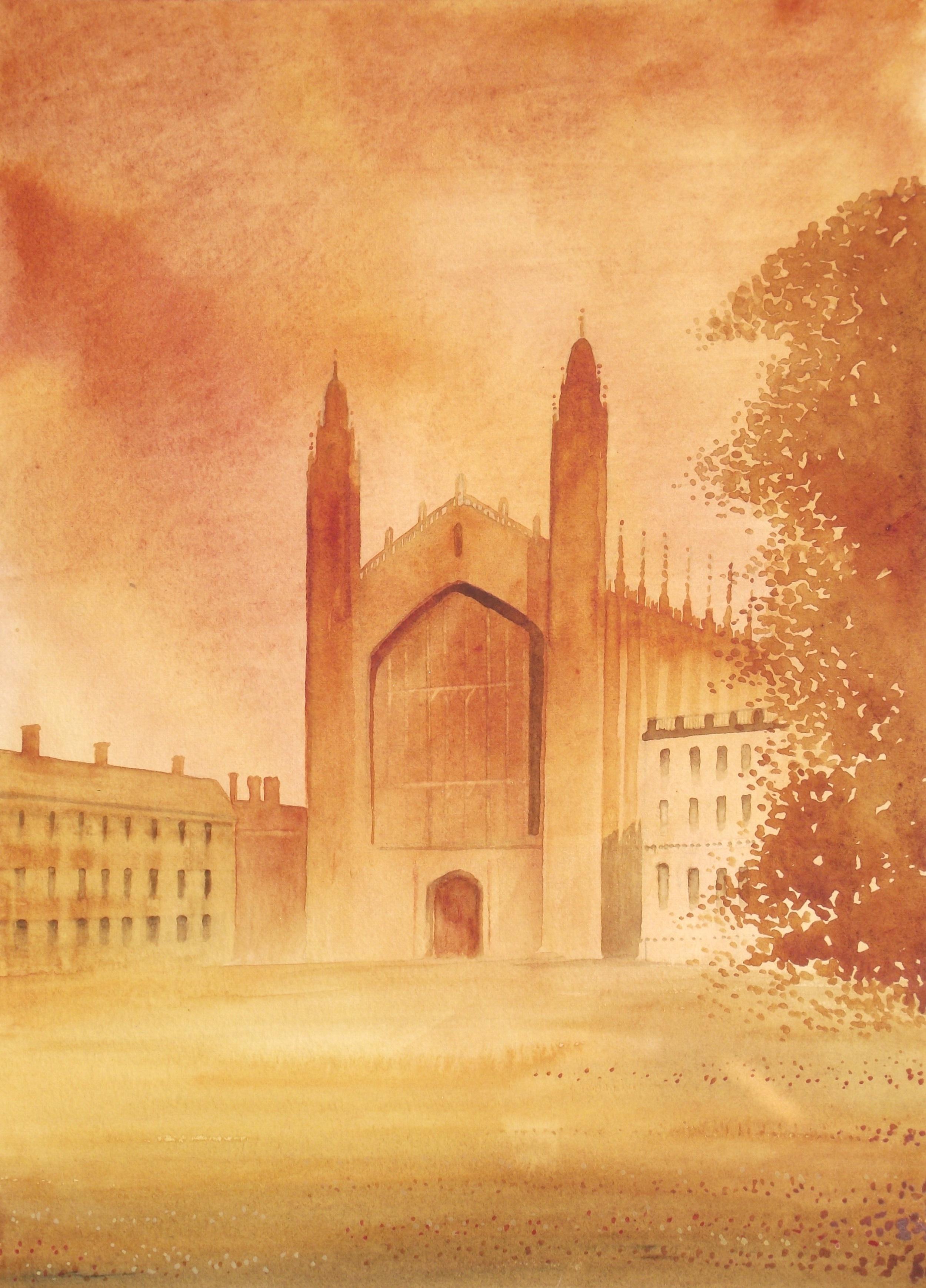 "Cambridge  watercolour  20 x 16""  £445 unframed"