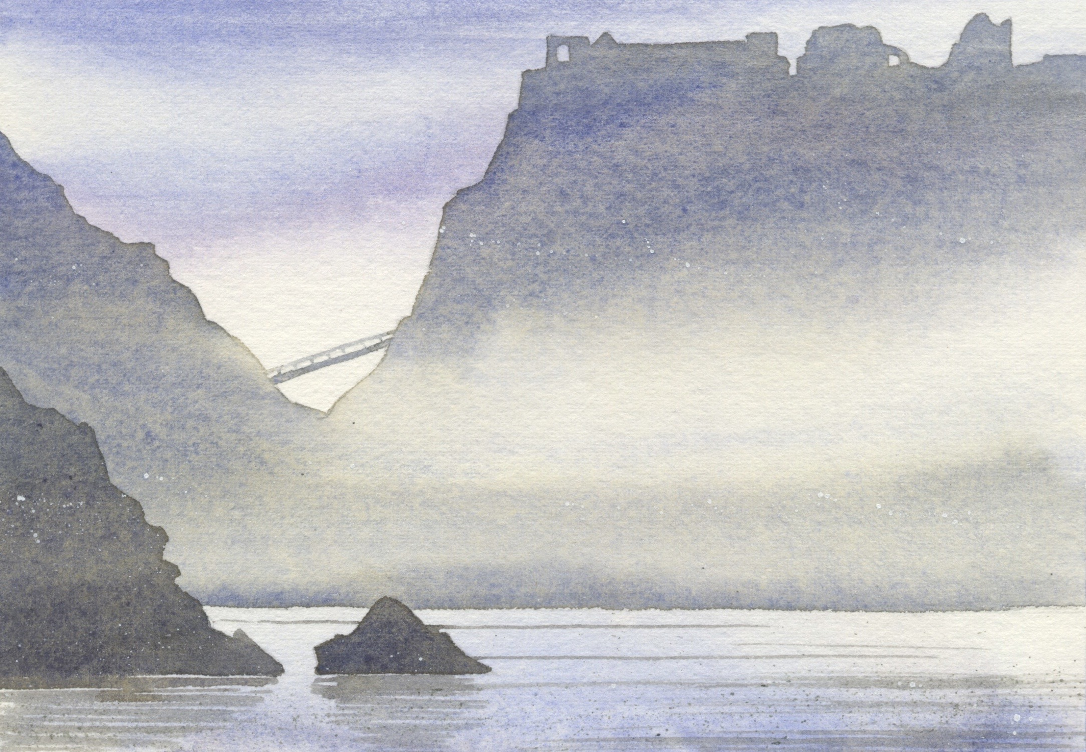 Tintagel  watercolour  SOLD