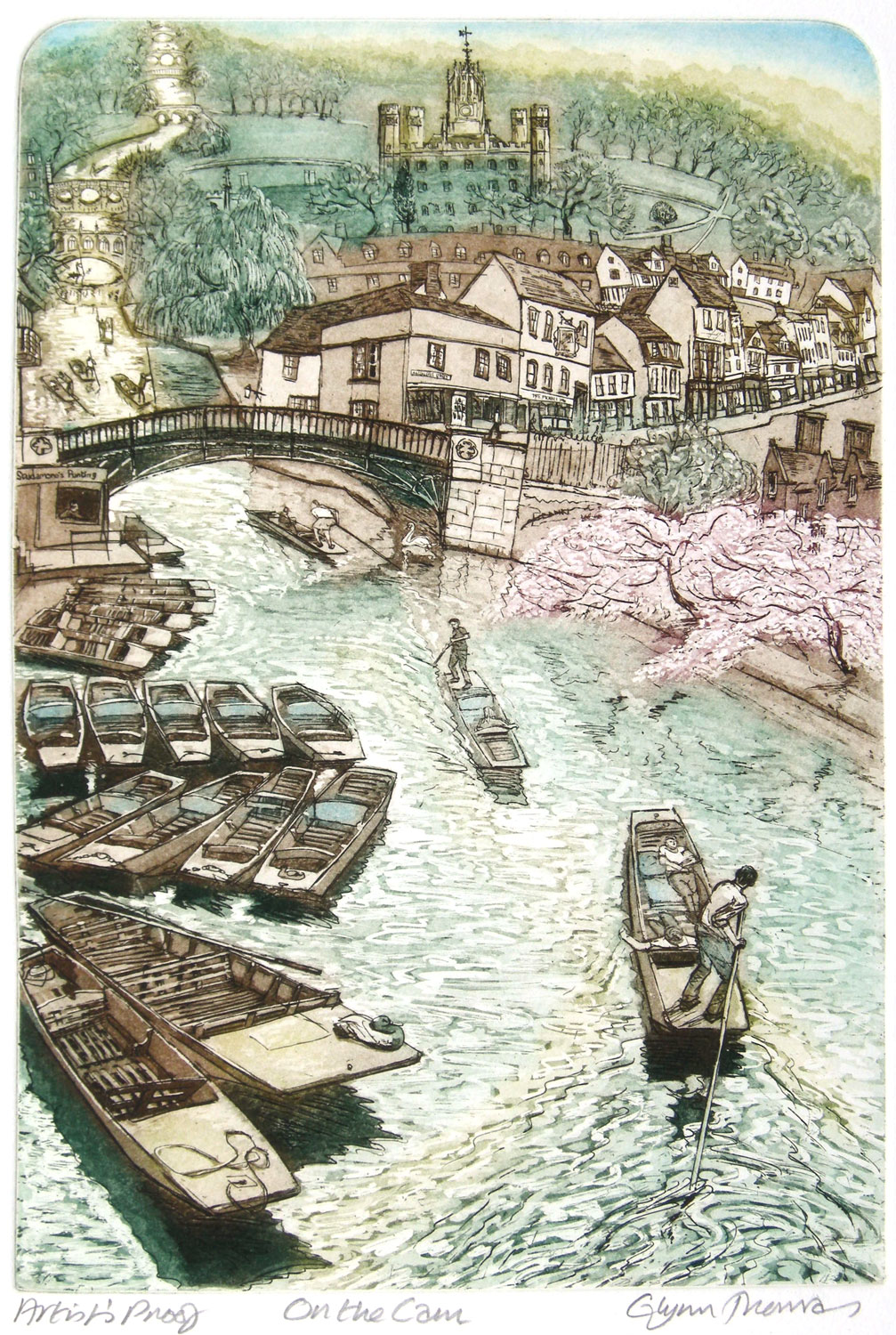 Glynn Thomas   On the Cam  etching with a la poupée colour printing