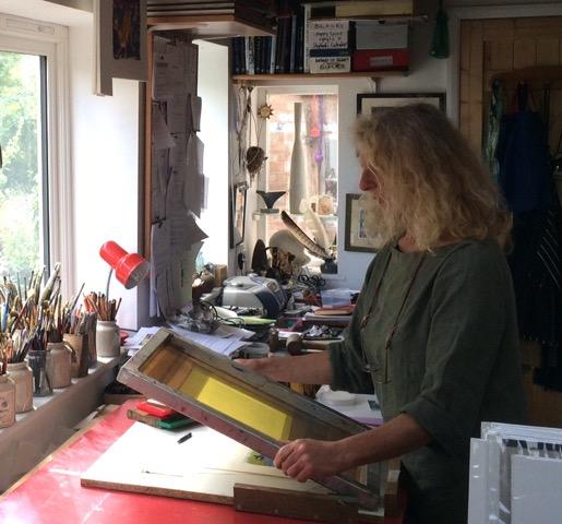 Carry Akroyd in her Studio
