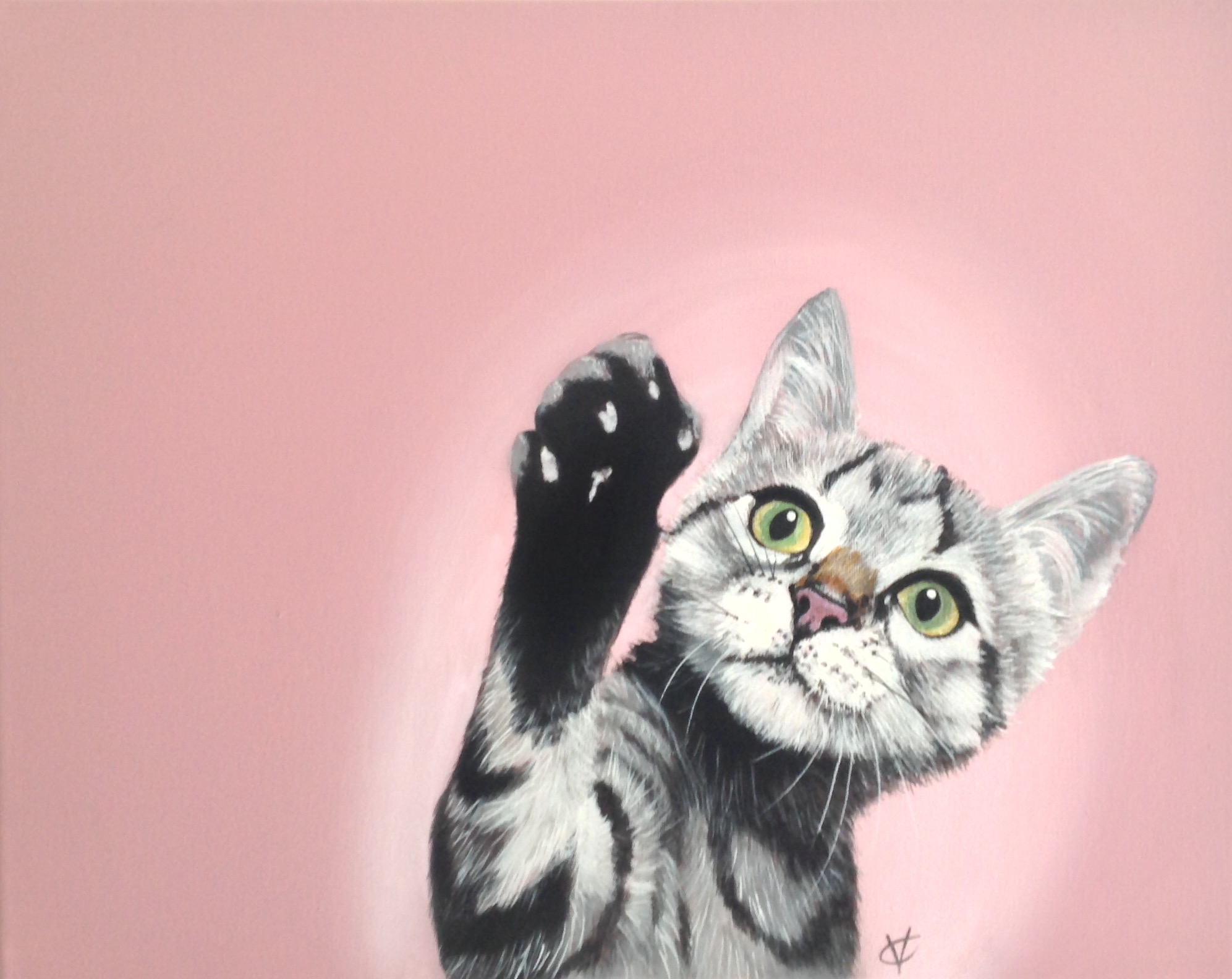 High Five    acrylic on canvas   16 x 20  £260