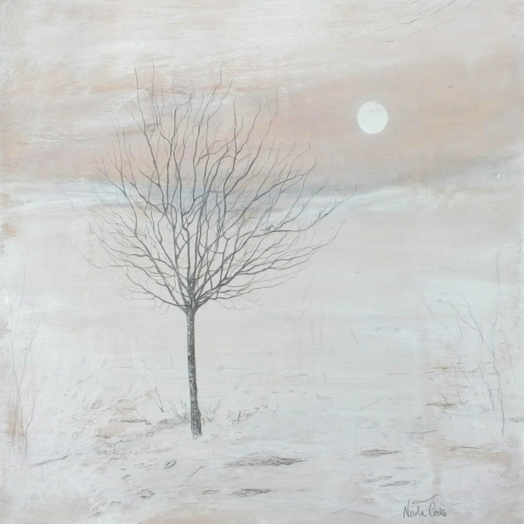 Meadow Tree Dawn  mixed media  £450