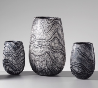 Selection of Lewisian Gneiss Urns (Small / Medium Small)  17 cm H x 13 cm W / 23 cm H X 14 CM w  between £220 — £330