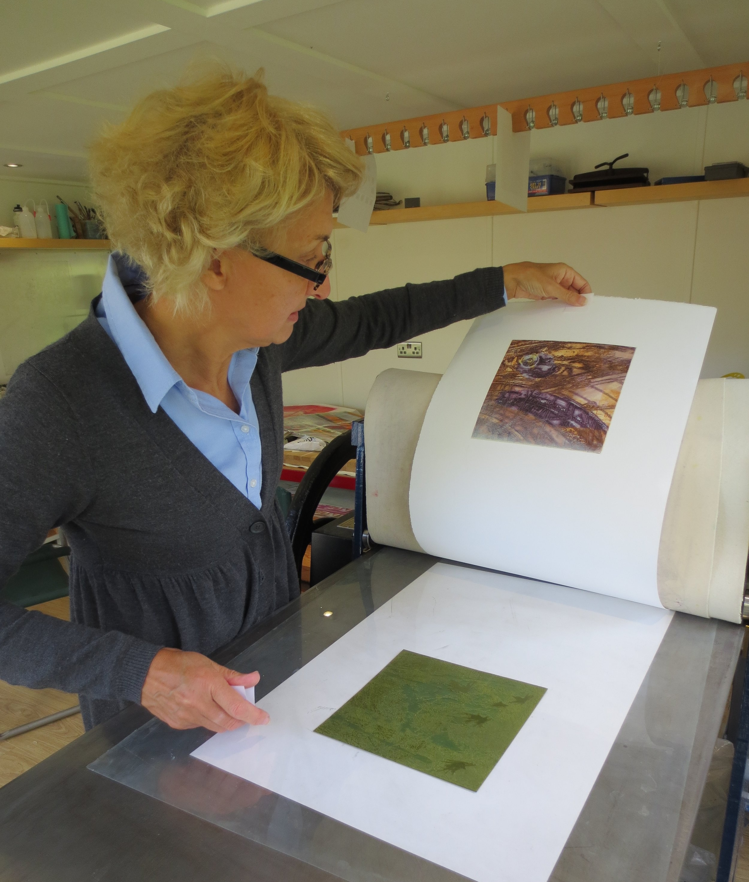 Sue Jones in her studio