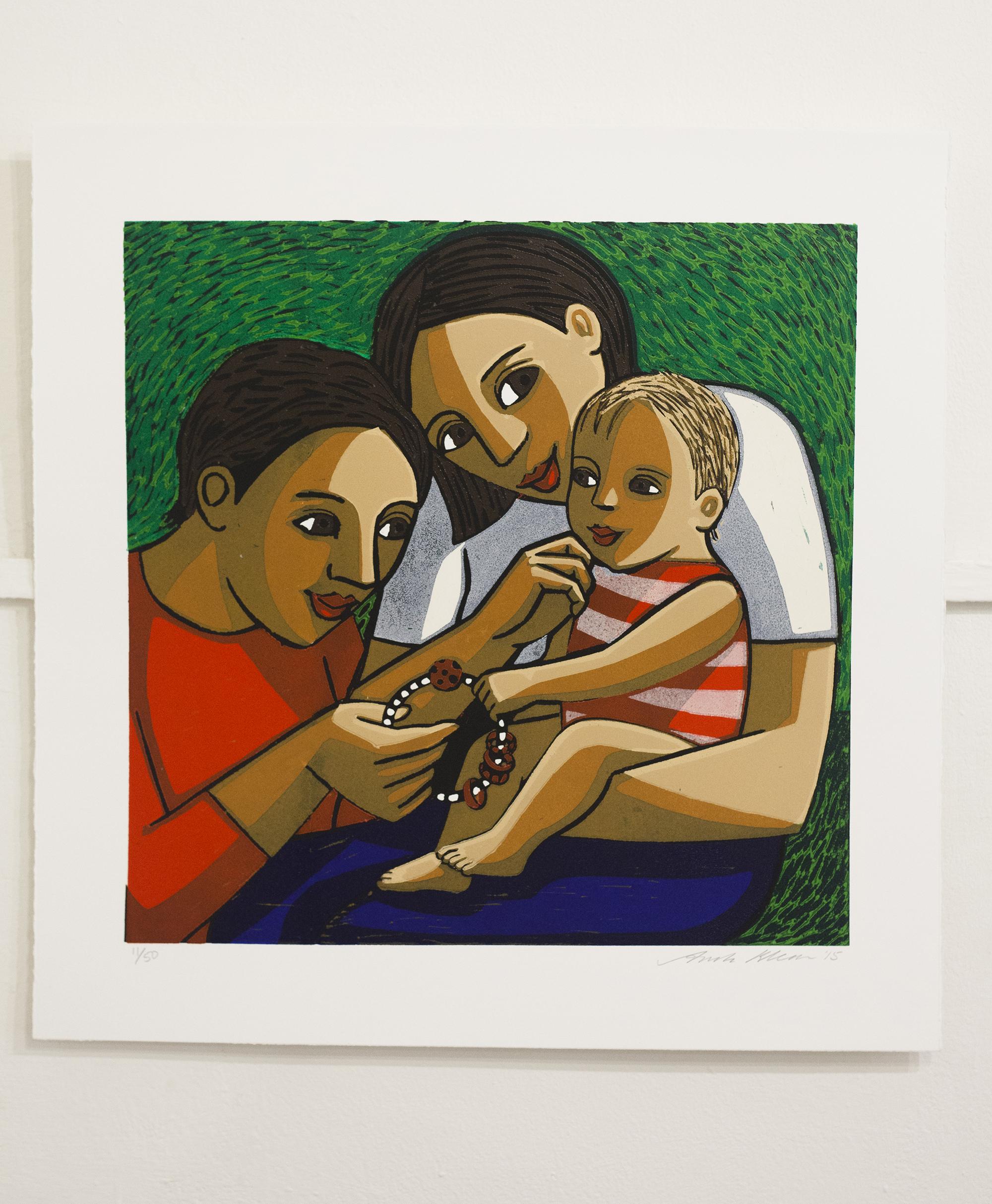 Anita Klein   linocut   Bettys Rattle ed11  £680
