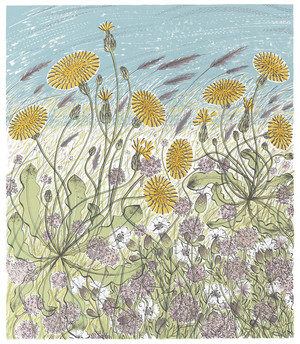 Angie Lewin  Saltmarsh, Morston   screenprint   47.5 x 30 cm  £335