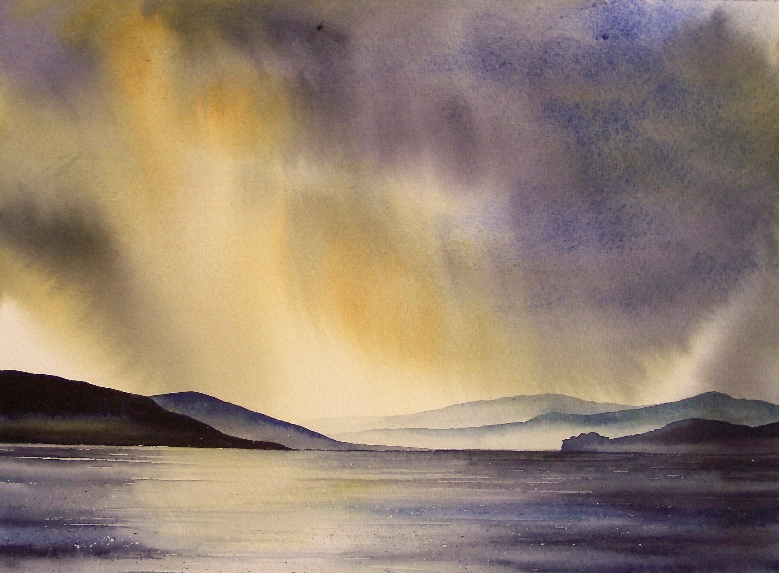 """Coniston  watercolour  20 x 16""""  £445 unframed"""