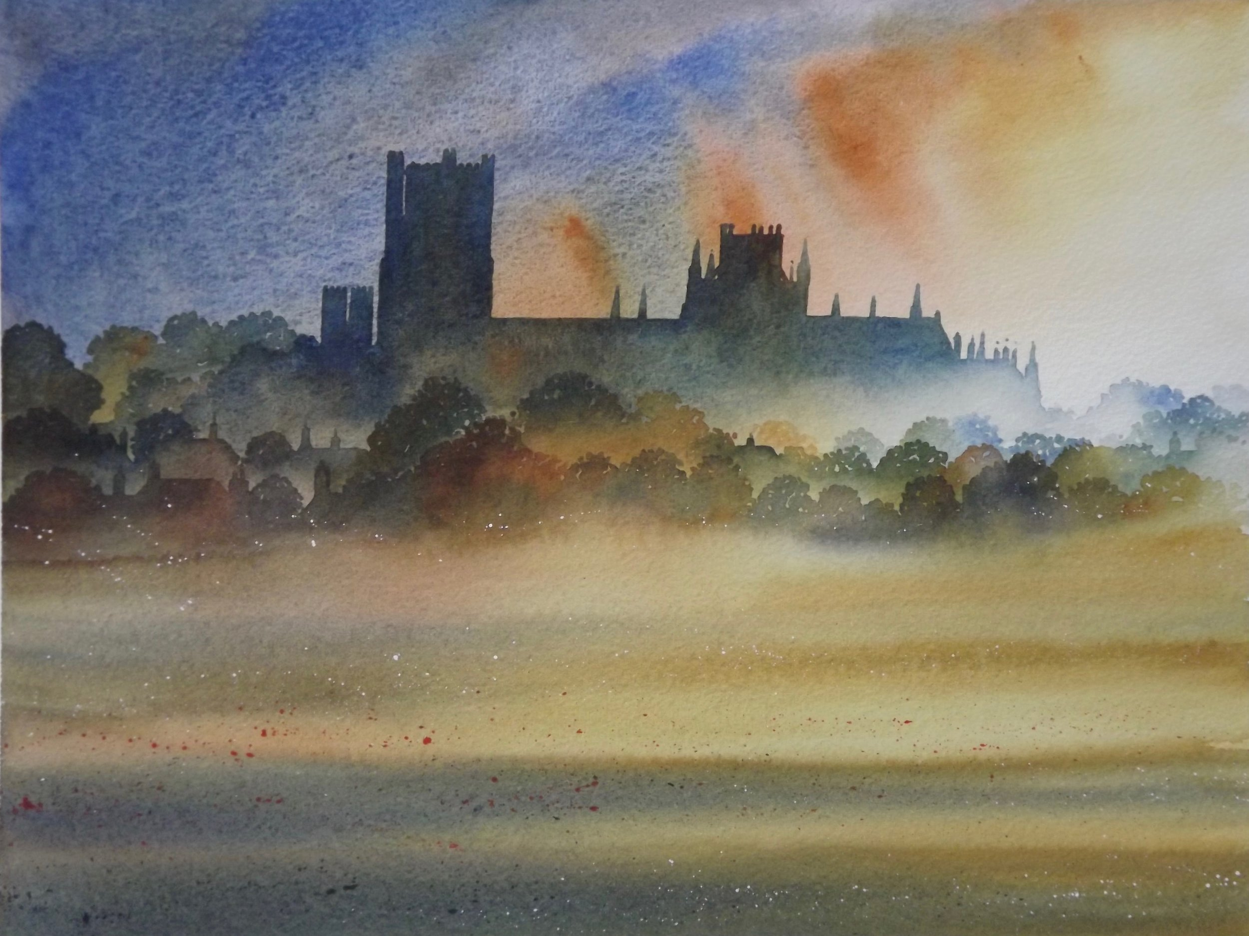 Ely  watercolour  SOLD
