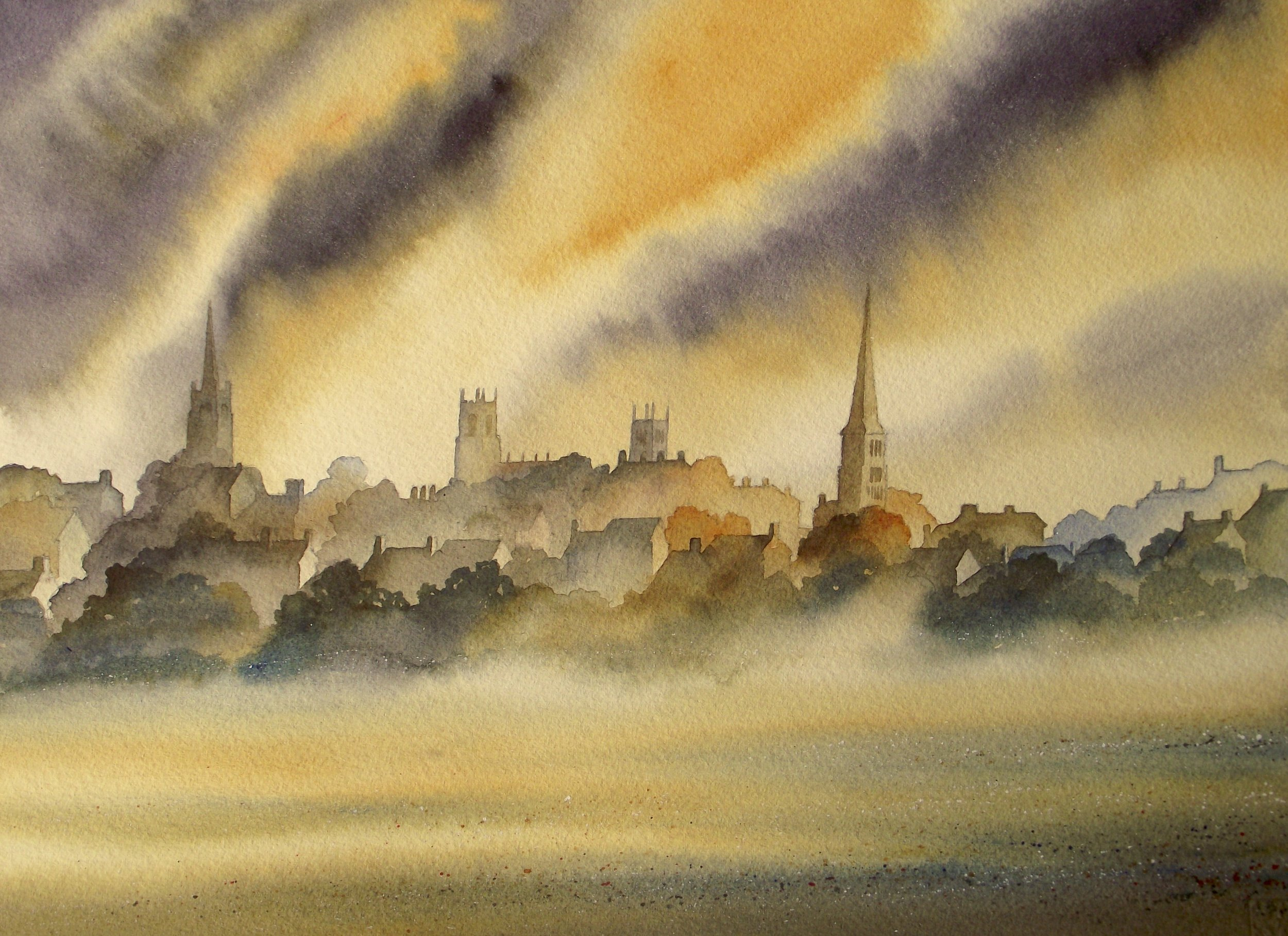 """Stamford  watercolour  20 x 16""""  SOLD"""