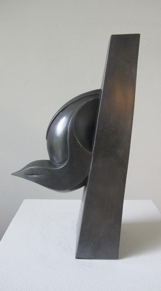 Nuthatch  cold cast pewter  22.5cm high  £225