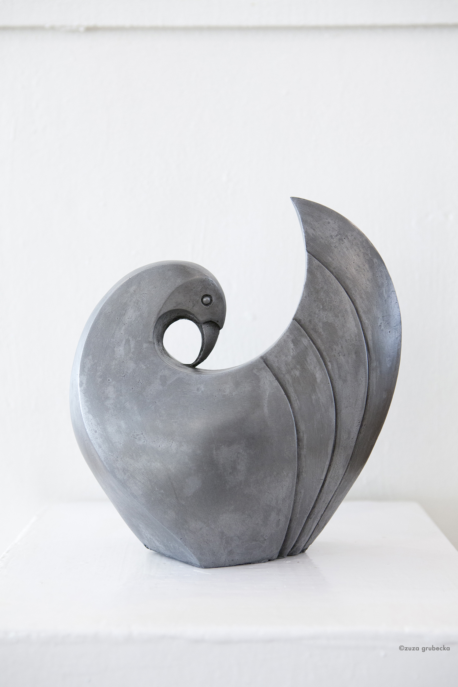 Dove  cold cast pewter  24cm high  £225