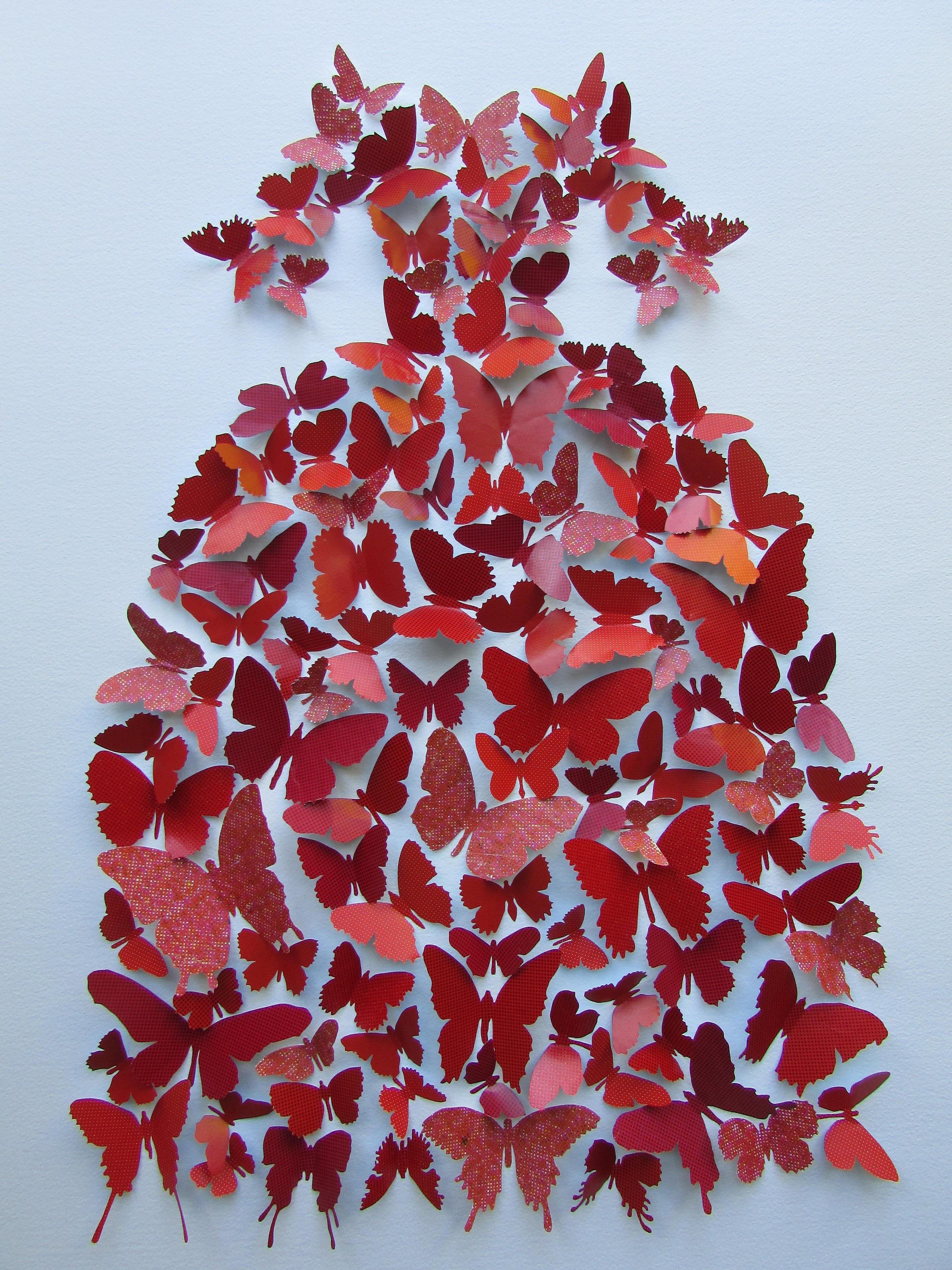 Pequena Princessa Roja  mixed media  75 x 55 cm
