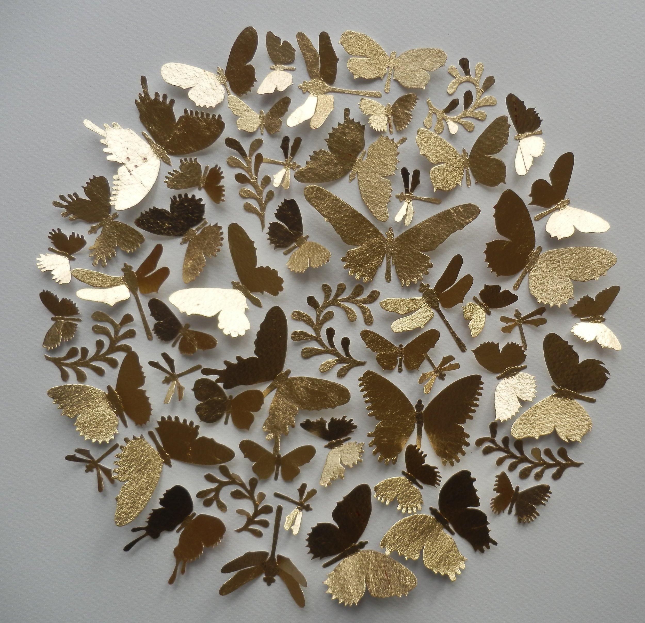Gloriole  mixed media  50 x 50 cm