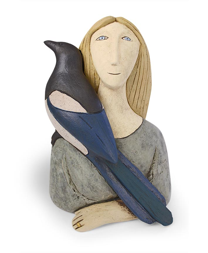 Good morning Mr Magpie   hand built clay   27 x 18cm    £550