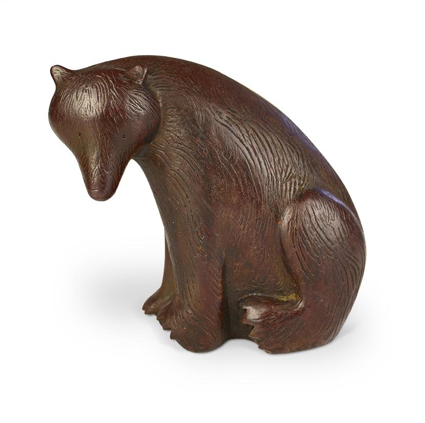 Seated Bear  iron resin  11 x 11.5cm    £195