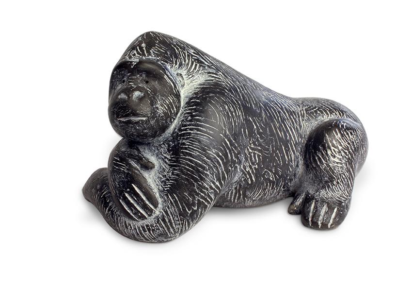Gorilla reclining  slate resin  9 x 14.5cm    £265