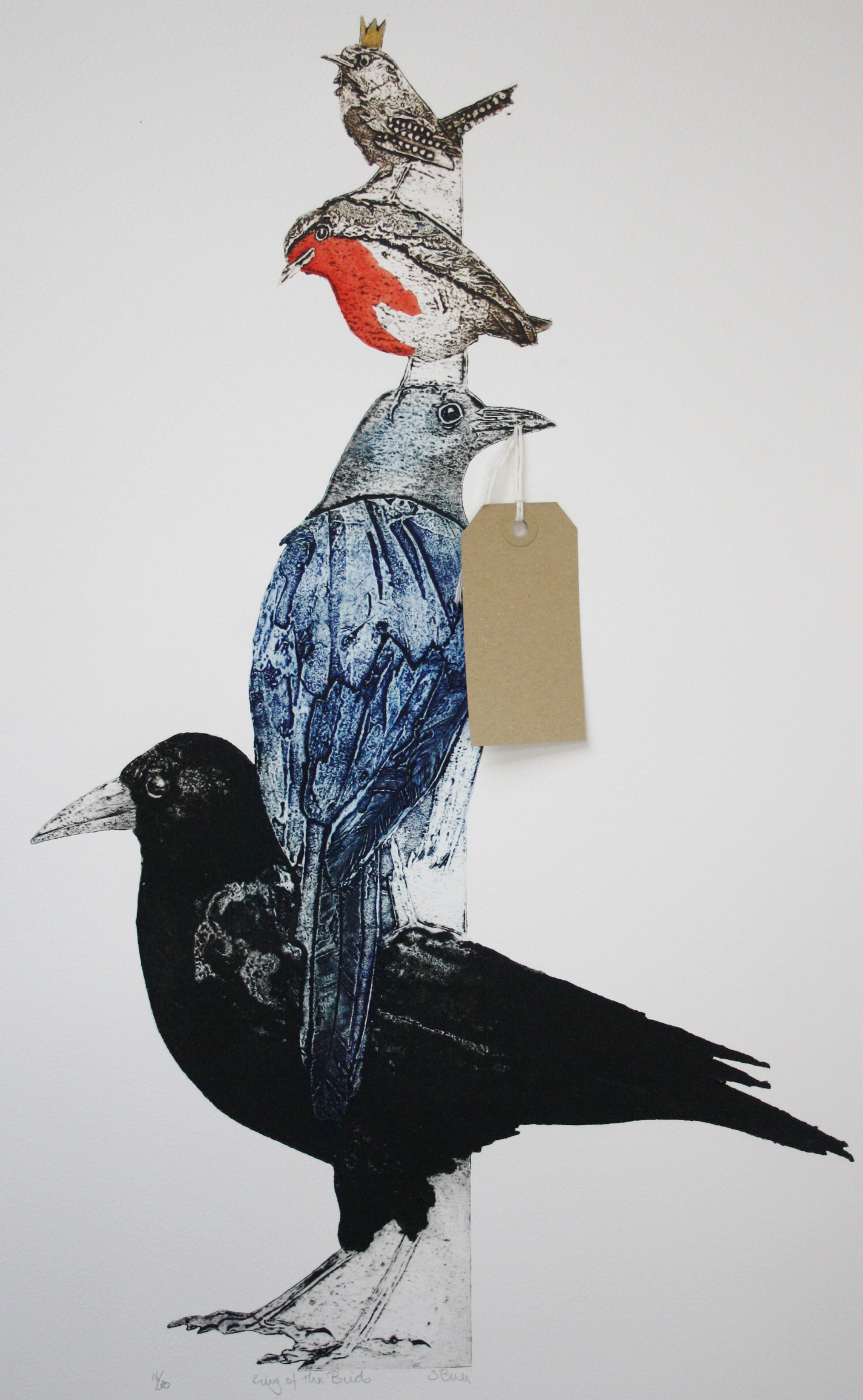 King of the Birds   collagraph   80 x 65 cm  £435 framed