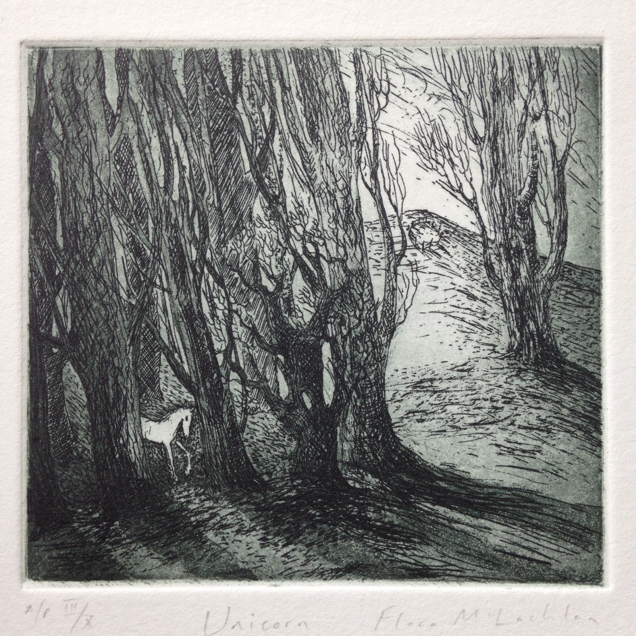 Unicorn  etching  £95