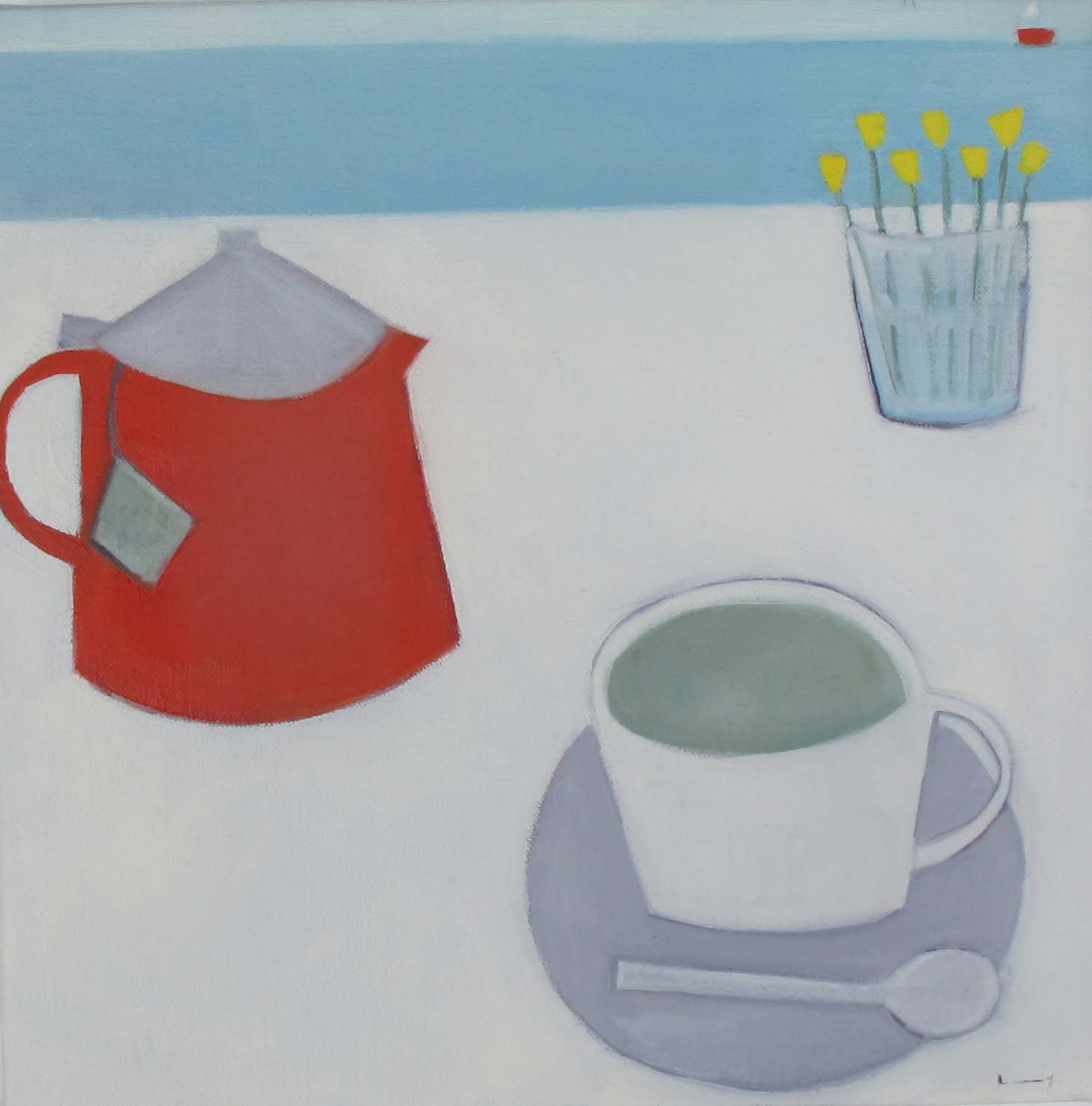 Green Tea By The Sea  30 cm  Oil on Linen  £395
