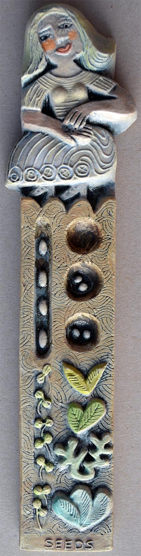 Seeds  ceramic  4 x 22 cm  SOLD