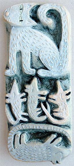 3 Mice and 1 Rat  ceramic  SOLD