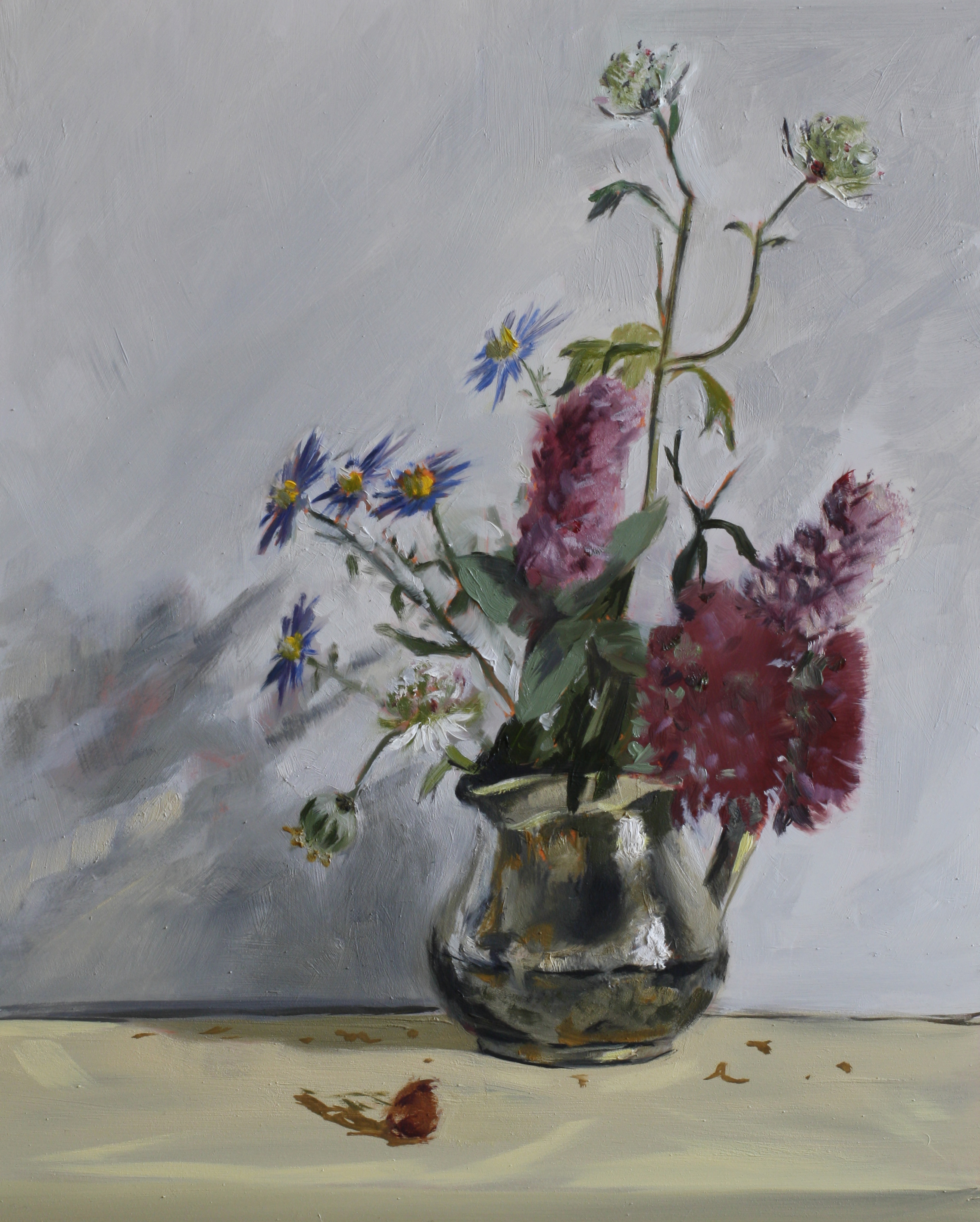 Rowntree Flowers  oil on gesso panel  24 x 30  £685