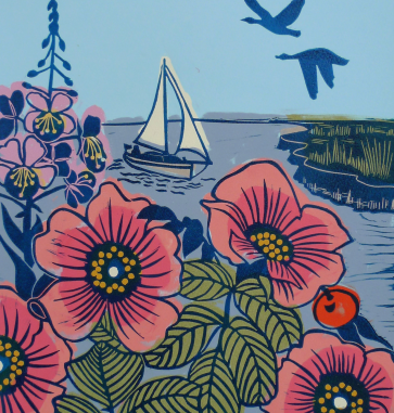 Kate Heiss   Wild Rose at High Tide