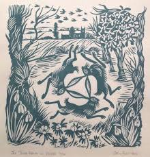Celia Hart   The Three Hares in WInter