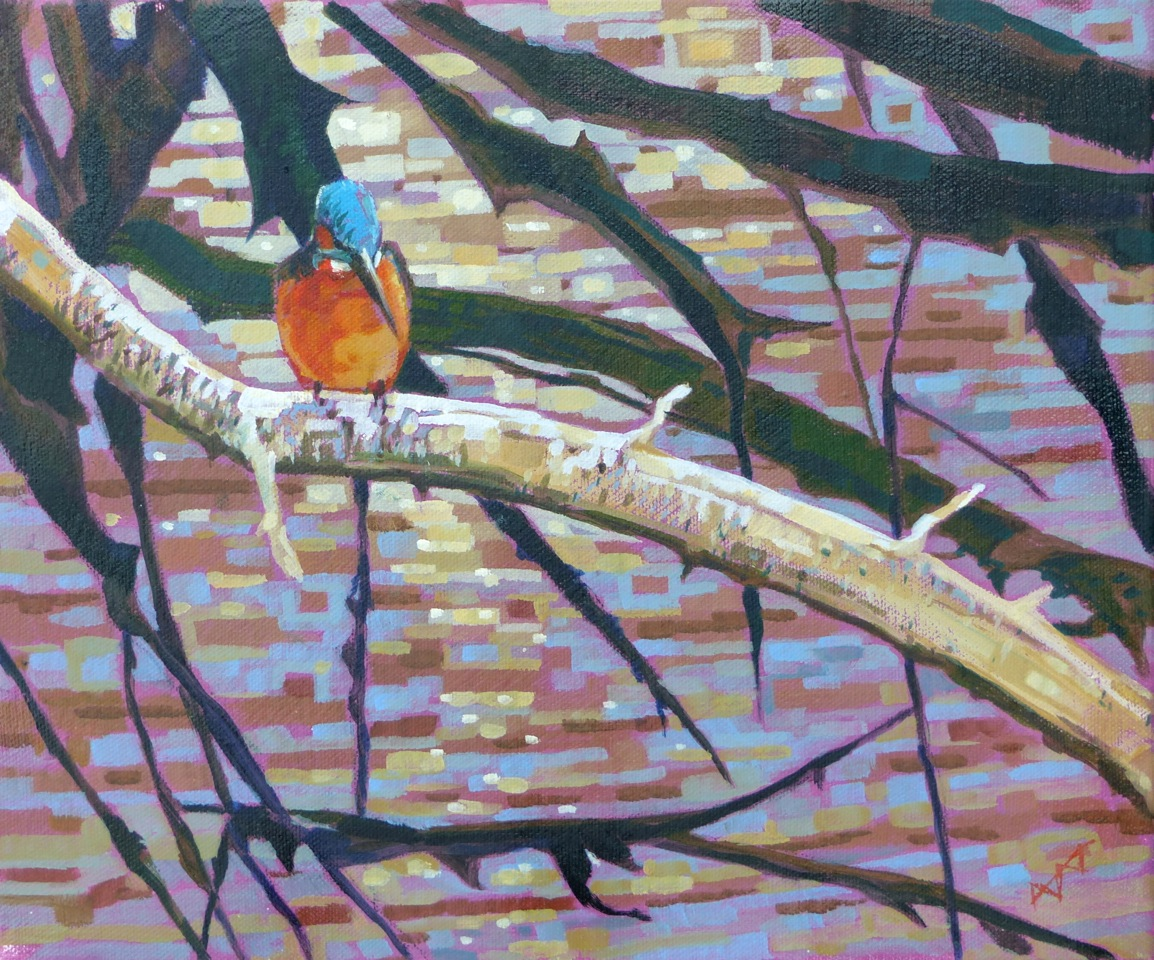 Fingringhoe Kingfisher  Oil on Canvas  sold