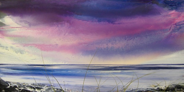 A Holkham Dusk  30 x 90cm  oil on canvas  SOLD