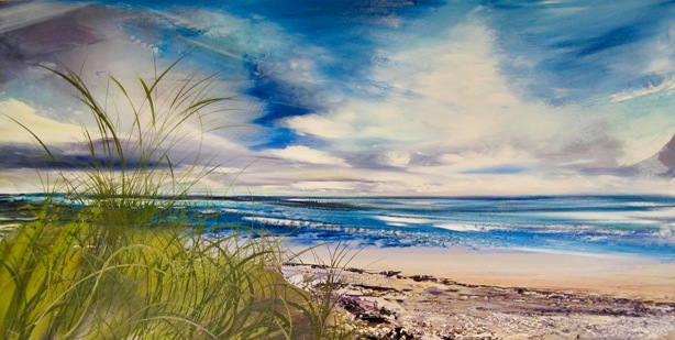 Moving Cloud Holkham  60 x 130cm  oil on canvas  SOLD