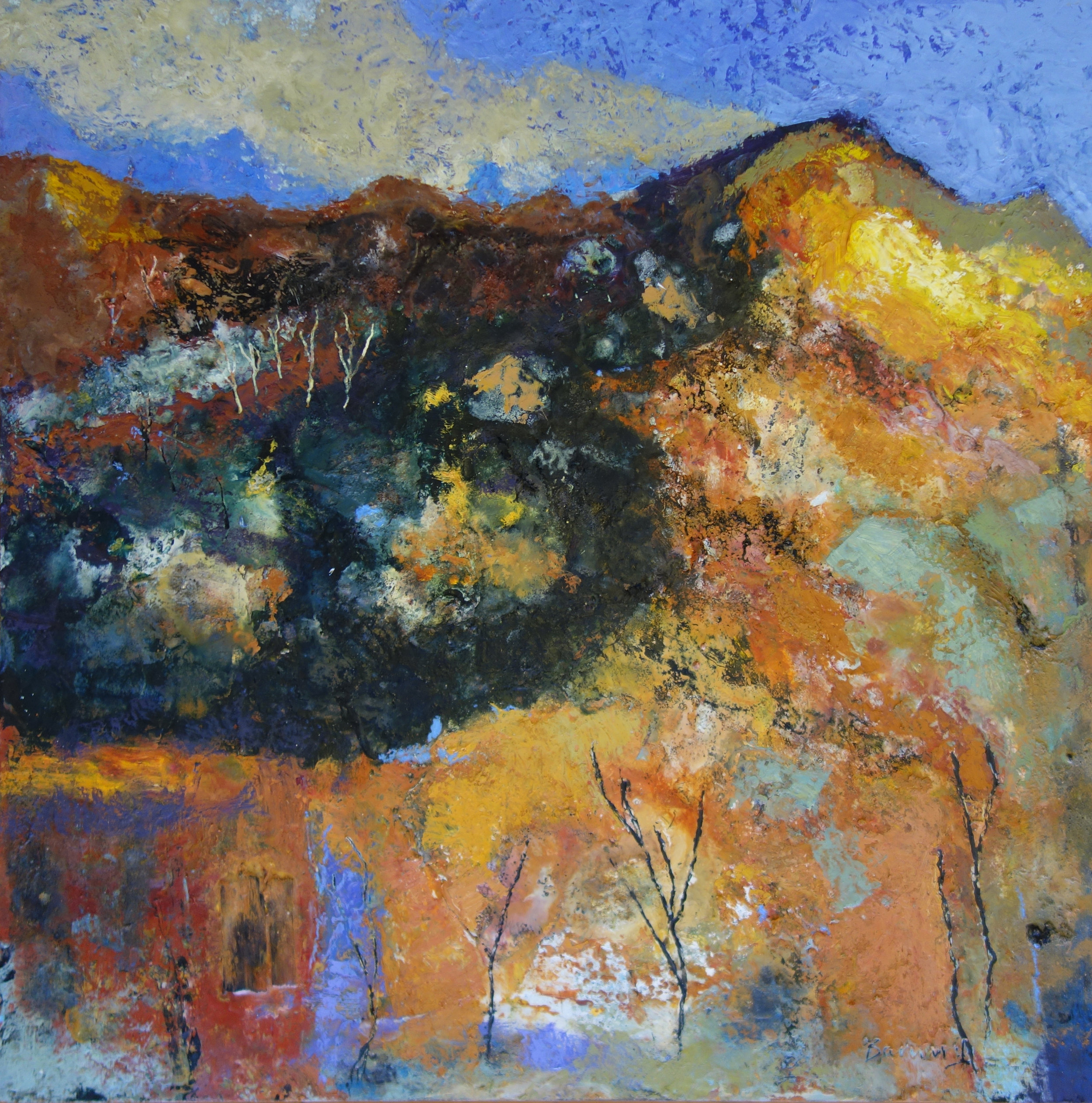 Chapmans Peak  oil based mixed media  75cm x 75xm  £1400
