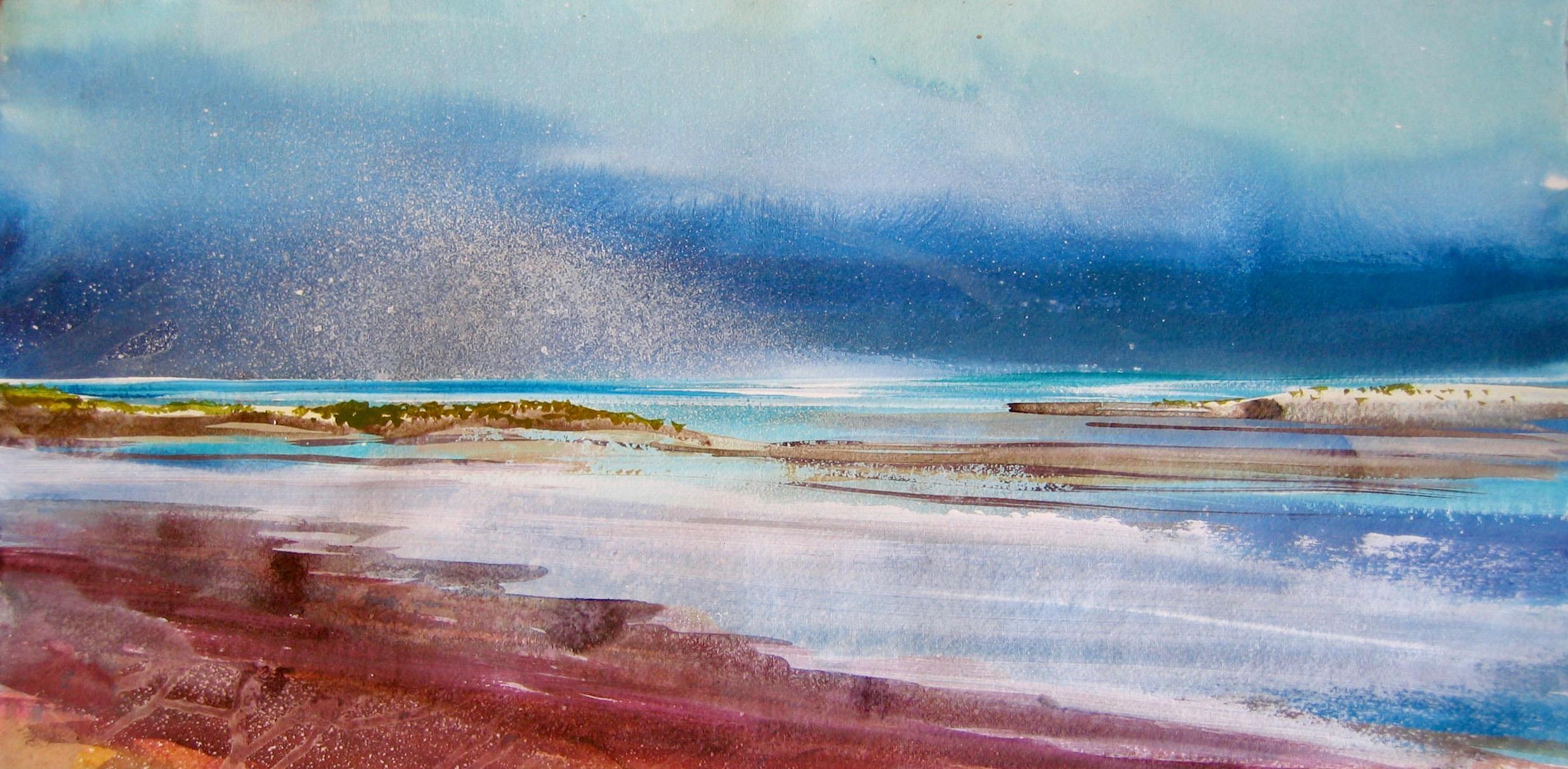 Turquiose seas Holkham 34x68cm acrylic on paper.jpg