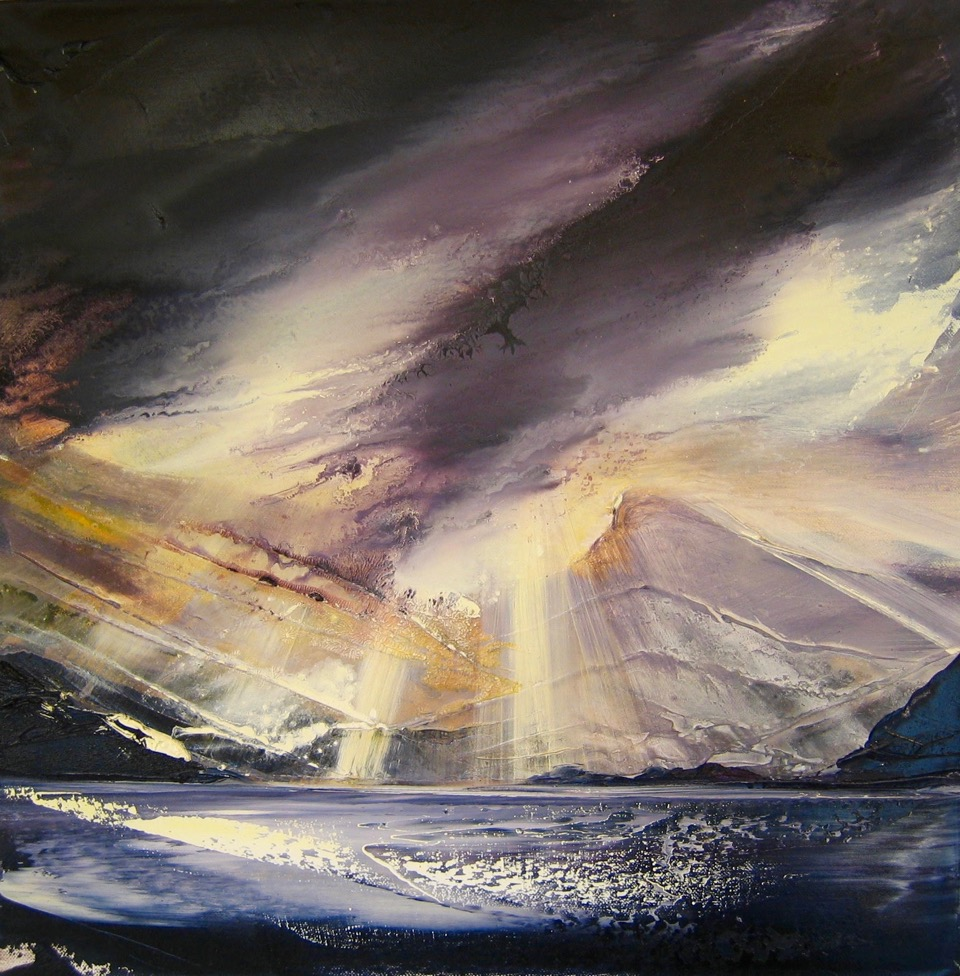 After the Storm in Assynt  50 x 50 cm  oil on canvas  SOLD